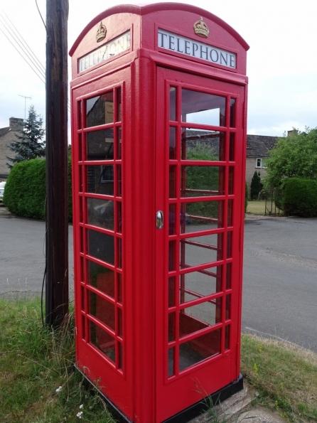 Red telephone box at Santon Downham