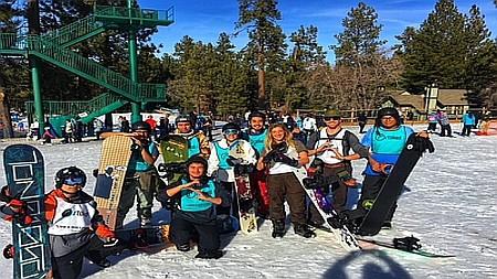 stoked mentoring snowboarding