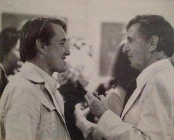 With Michael Tippett (early 1970's)