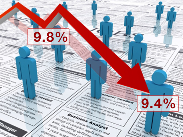Unemployment declines graphic - Nov. 1, 2011
