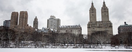 Central Park West stands over The Lake on Friday Jan. 9, 2015 in New York. (Gordon Donovan/Yahoo News)