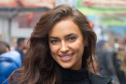 Sports Illustrated swimsuit model Irina Shayk poses for a photo at the SwimCity festival in New York City on Monday Feb. 9, 2015. (Gordon Donovan/Yahoo News)