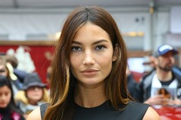 Sports Illustrated swimsuit model Lily Aldridge poses for a photo at the SwimCity festival in New York City on Monday Feb. 9, 2015. (Gordon Donovan/Yahoo News)