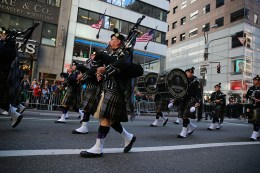 New York State Troopers Pipe and Drums during the St. Patrick's Day Parade, March 17, 2016, in New York (Gordon Donovan/Yahoo News)