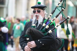 A man plays the bagpipes the St. Patrick's Day Parade, March 17, 2016, in New York. (Gordon Donovan/Yahoo News)