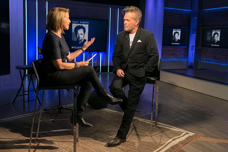 Yahoo Global News Anchor Katie Couric interviews recording artist John Mellencamp at the Yahoo Studios in New York City on Jan. 19, 2017. (Gordon Donovan/Yahoo News)