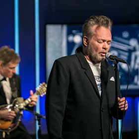 "Recording artist John Mellencamp performs an exclusive in-studio performance of ""Easy Target"" at the Yahoo Studios in New York City on Jan. 19, 2017. (Gordon Donovan/Yahoo News)"