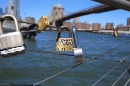 The love-lock trend surfaced in Paris in 2008, but it started to pose problems in 2012. (Gordon Donovan/Yahoo News)