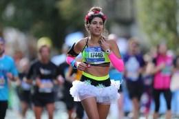 A runner wears so informal attire during the 2016 New York City Marathon, Nov. 6, 2016. (Gordon Donovan/Yahoo News)