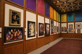 "The walls are filled with the work of artists paying tribute to the ""Star Trek'' 50th anniversary. (Gordon Donovan/Yahoo News)"