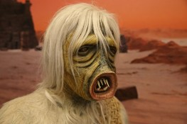 """A life-size figure of the creature from """"The Man Trap,"""" which became known to fans as the """"salt vampire."""" (Photo: Gordon Donovan/Yahoo News)"""