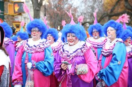 Clowns pose for a photo before the 90th Macy's Thanksgiving Day Parade in New York, Thursday, Nov. 24, 2016. (Gordon Donovan/Yahoo News)