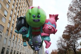 The Trolls balloon from Dreamworks animation floats in the 90th Macy's Thanksgiving Day Parade in New York, Thursday, Nov. 24, 2016. (Gordon Donovan/Yahoo News)