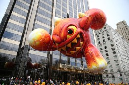 Eruptor returns to the parade for his third flight, in the 90th Macy's Thanksgiving Day Parade in New York, Thursday, Nov. 24, 2016. Literally a force of nature, Skylanders' Eruptor will fly high, delighting fans of all ages. (Gordon Donovan/Yahoo News)
