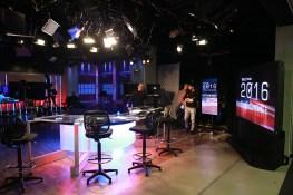 Behind the Scenes at the Yahoo News Studios on election night on Tuesday, Nov. 8, 2016. (Gordon Donovan/Yahoo News)
