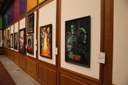 """The walls are filled with the work of artists paying tribute to the """"Star Trek'' 50th anniversary. (Photo: Gordon Donovan/Yahoo News)"""