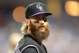 Colorado Rockies Charlie Blackmon (19) in the fourth inning of a baseball game against the New York Mets at Citi Field in New York, Friday, July 29, 2016. (Gordon Donovan)
