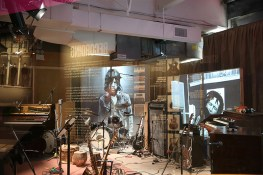 A recreation of a Stones recording studio, complete with original instruments. (Gordon Donovan/Yahoo News)