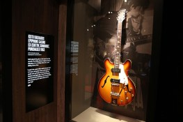 "Keith Richards played this guitar on the band's first five records: ""The Rolling Stones,"" ""England's Newest Hitmakers,"" ""12 x 5,"" ""Rolling Stones No. 2"" and ""Rolling Stones, Now."" (Gordon Donovan/Yahoo News)"