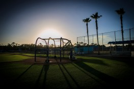 The sun begins to set in the back fields at FNew York Mets spring training facility in Port St. Lucie, Fl., Friday, Feb 24, 2017. (Gordon Donovan/Yahoo Sports)