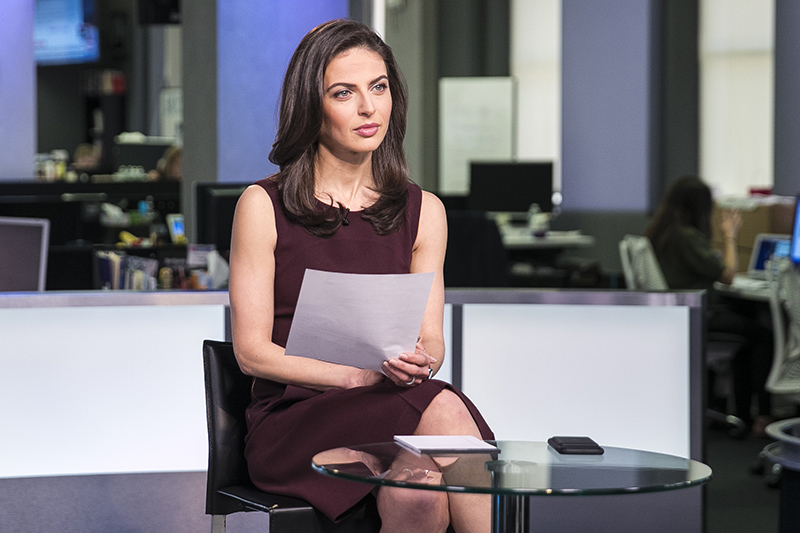 Yahoo Global Correspondent Bianna Golodryga and Yahoo News Chief Investigative Correspondent Michael Isikoff discuss new revelations regarding Michael Flynn, the ousted former National Security Advisor to President Donald Trump at the Yahoo Studios in New York City on May 18, 2017. (Gordon Donovan/Yahoo News)