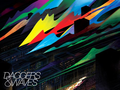 Daggers & Waves EP cover artwork with logo.