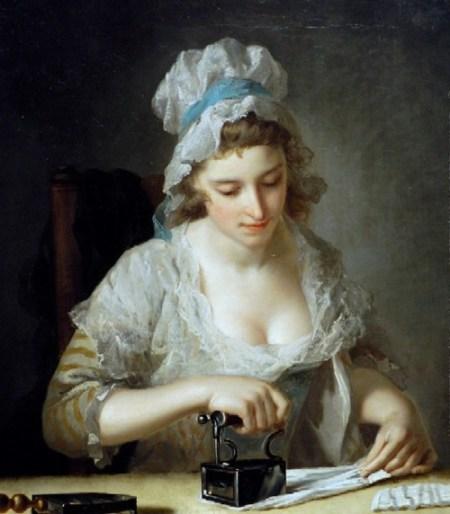 Henry Robert Morland A Servant Girl Ironing