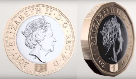 one pound coin hologram 3