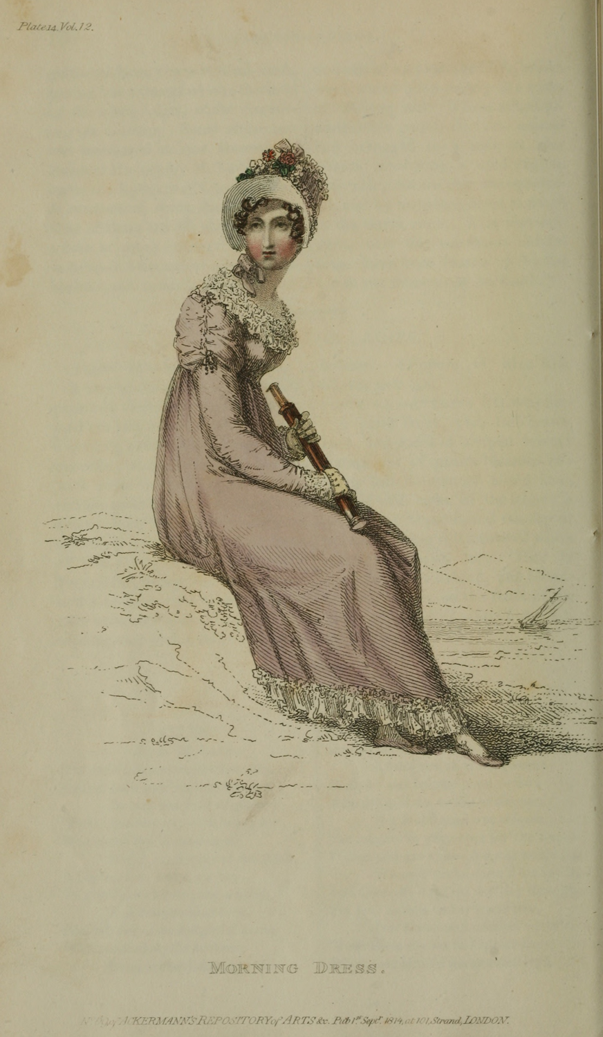 Telescope - 1814 v12 Ackermann's fashion plate 14 - Morning Dress