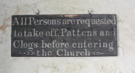 Trent, St Andrew, patten notice