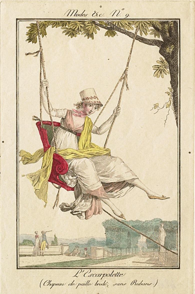 Philibert Louis Debucourt, Modes et Manières No. 9- L'Escarpolette