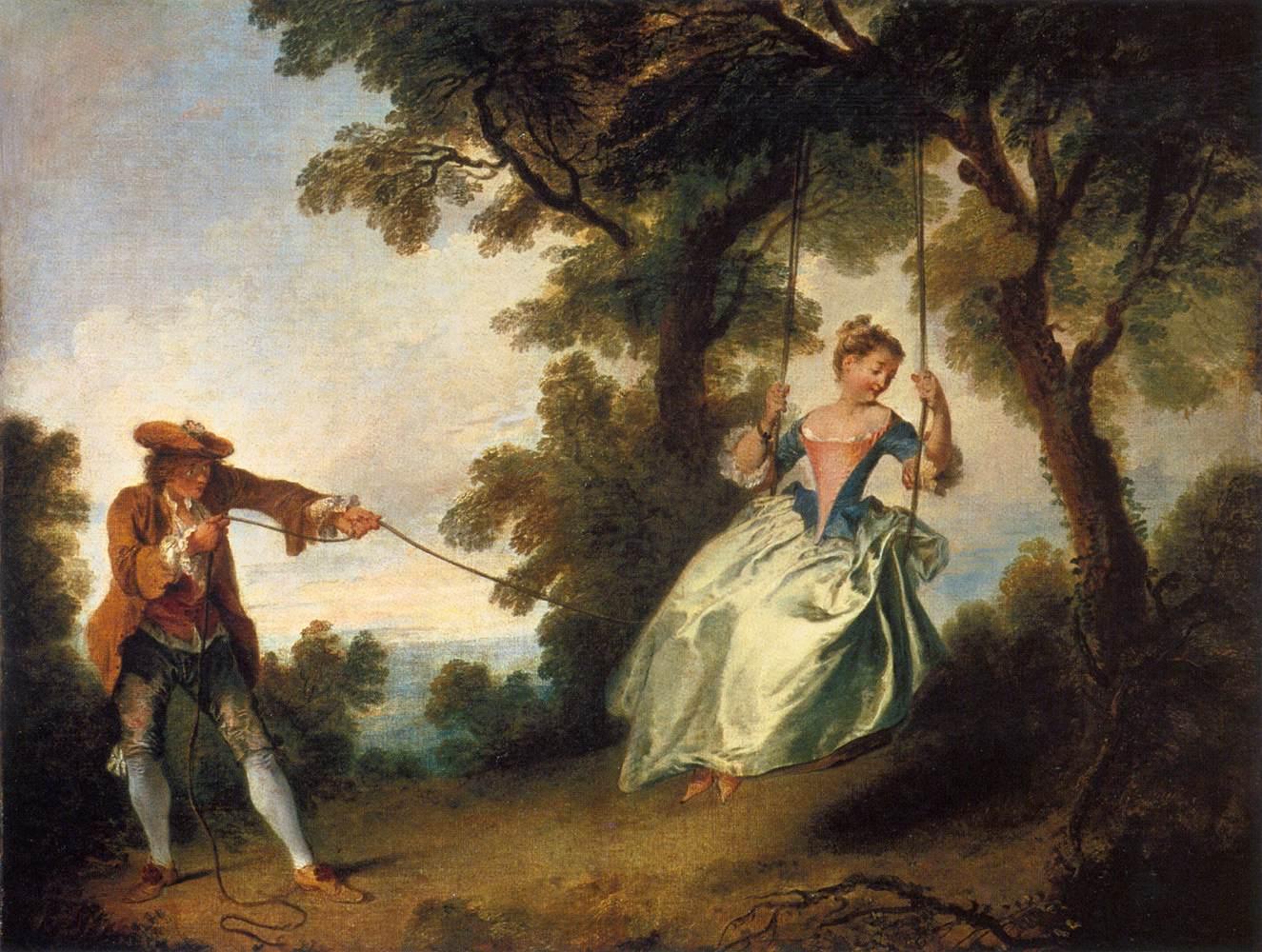 'The Swing' by Nicolas Lancret 1735