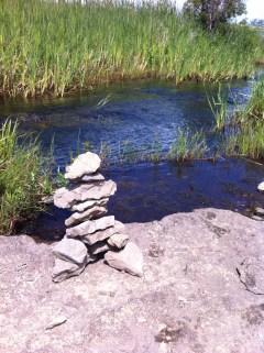 Rock art on Manitoulin Island