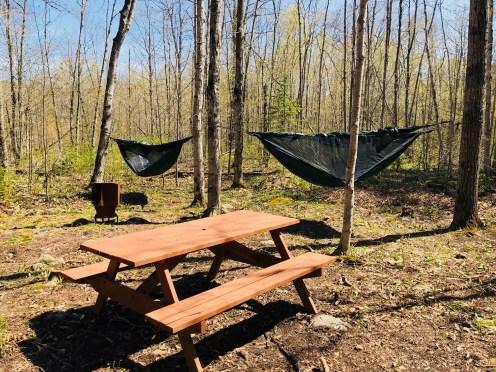 Hammock camping at Gordon's Park on Manitoulin Island