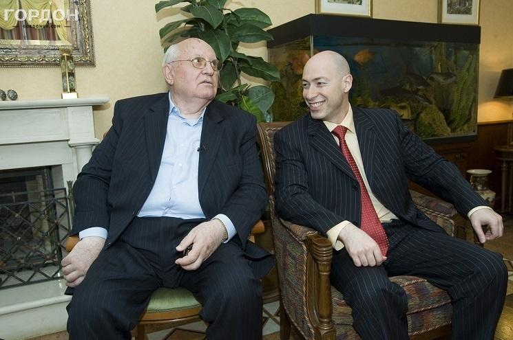 Во время интервью с Михаилом Горбачевым, 2010 год. Фото: Gordonua.com