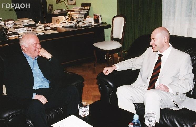 Во время интервью с Эдуардом Шеварднадзе, 2008 год. Фото: Gordonua.com