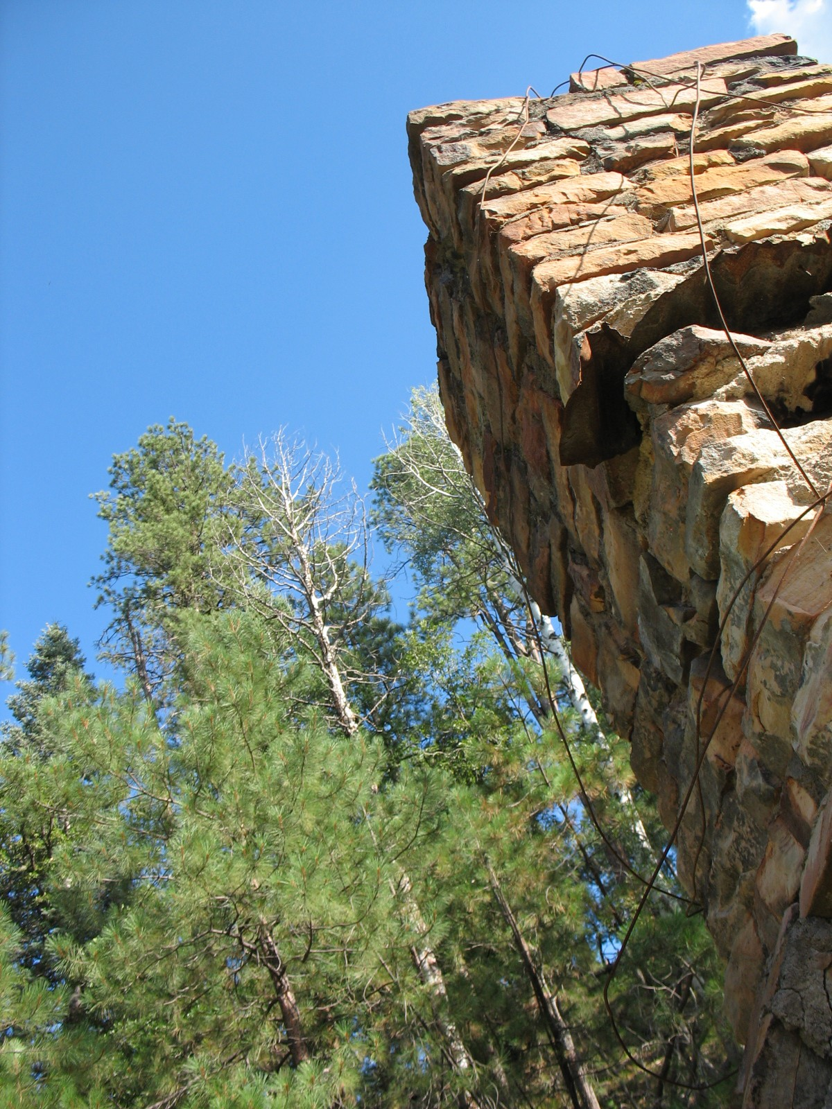 Aspen Springs - old fireplace remnant
