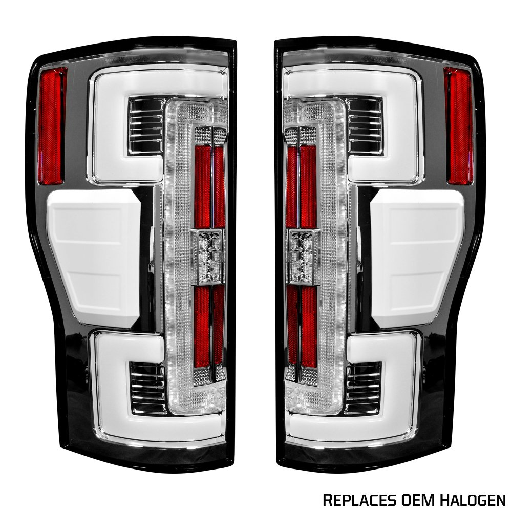 medium resolution of recon 264299cl ford superduty f250 350 450 550 17 19 replaces oem halogen style tail lights with or without blis blind spot warning system oled tail