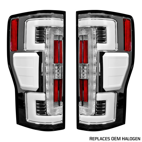small resolution of recon 264299cl ford superduty f250 350 450 550 17 19 replaces oem halogen style tail lights with or without blis blind spot warning system oled tail