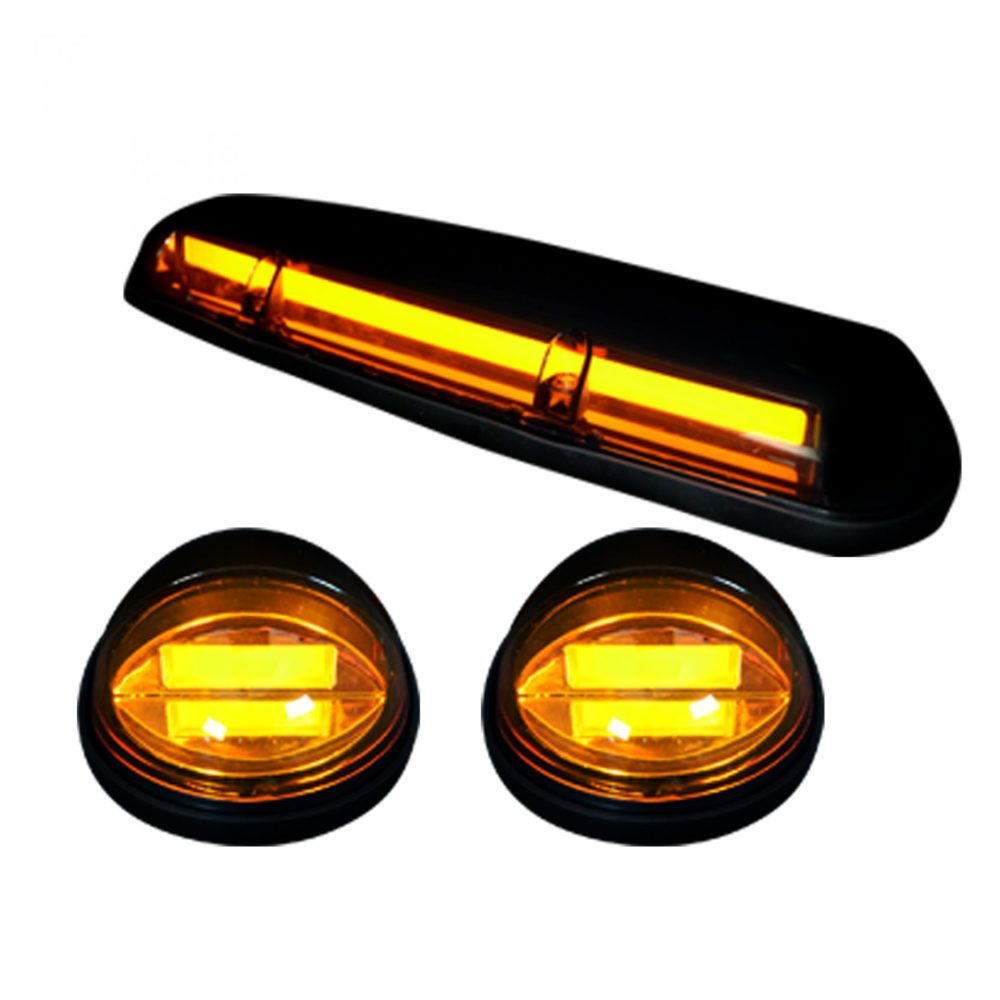 medium resolution of recon 264155amhp gmc chevy 02 07 1st gen classic body style heavy duty 3 piece set amber cab roof light lens with amber high power oled bar style