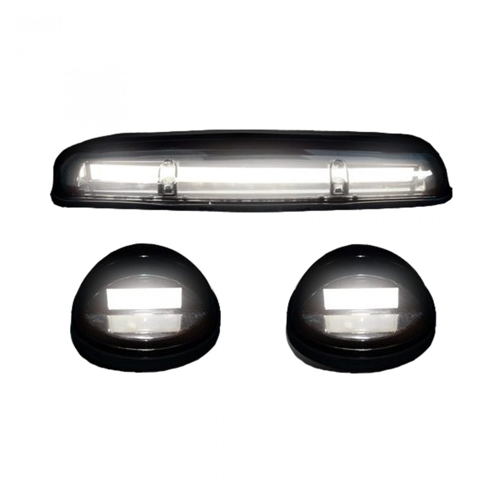medium resolution of recon 264155whbkhp gmc chevy 02 07 1st gen classic body style heavy duty 3 piece set smoked cab roof light lens with white high power oled bar style