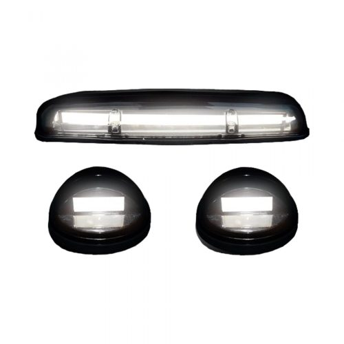 small resolution of recon 264155whbkhp gmc chevy 02 07 1st gen classic body style heavy duty 3 piece set smoked cab roof light lens with white high power oled bar style