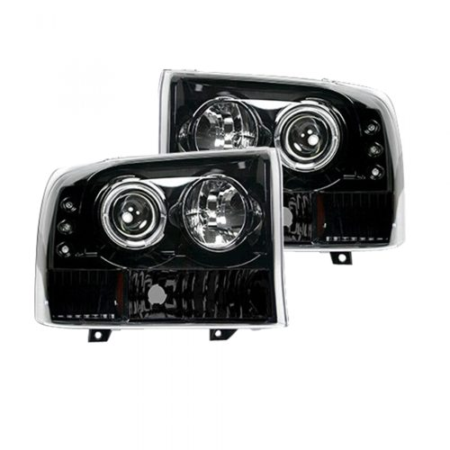 small resolution of recon 264192bk ford superduty 99 04 f250 f350 f450 f550 projector headlights smoked black