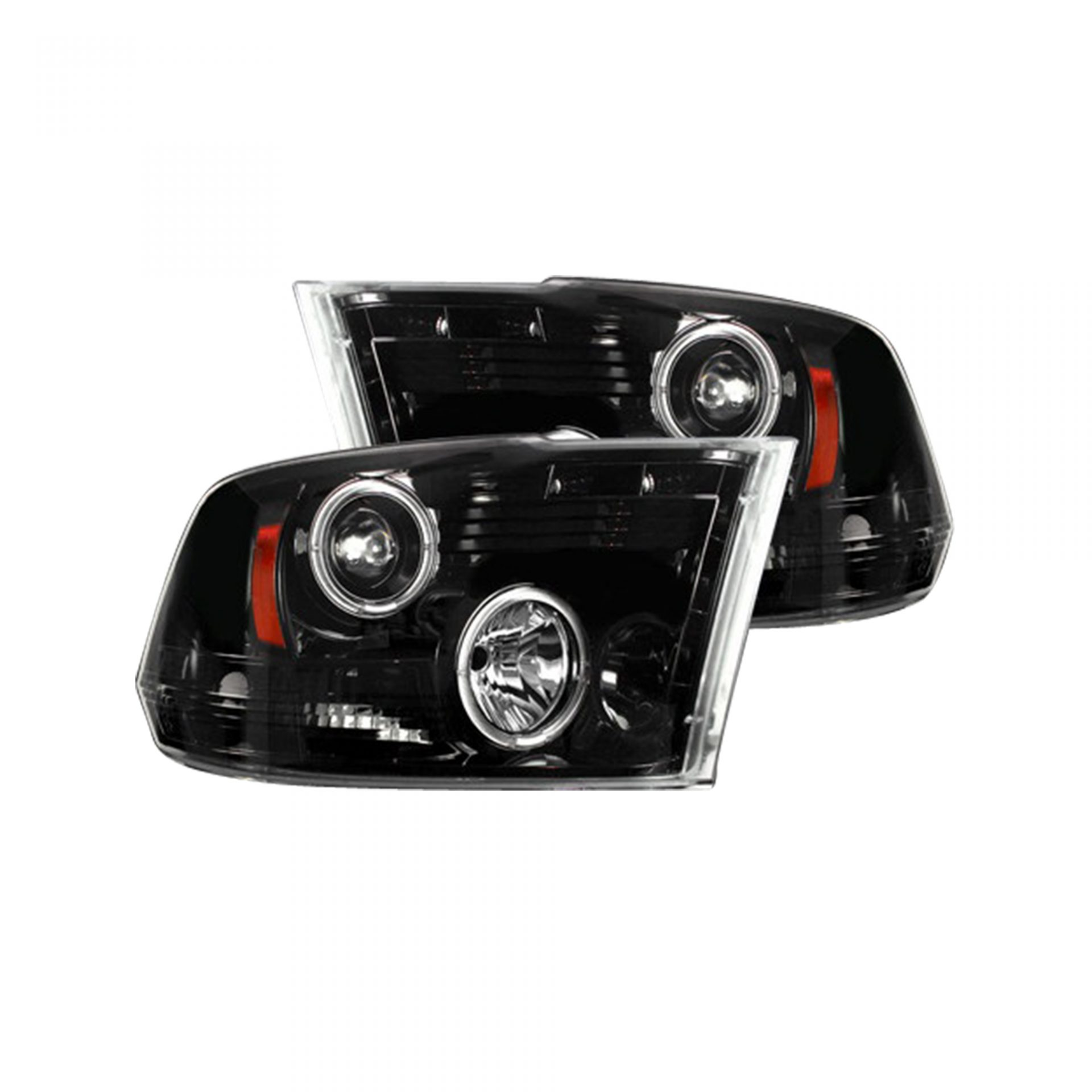 hight resolution of recon 264270bkcc dodge ram 09 19 1500 10 19 2500 3500 projector headlights w ccfl halos drl smoked black