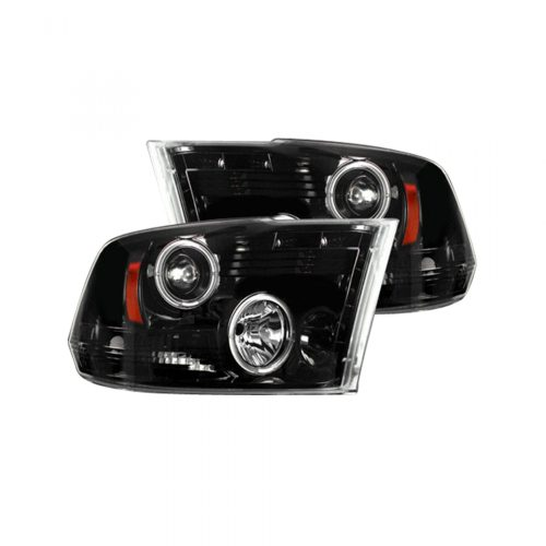 small resolution of recon 264270bkcc dodge ram 09 19 1500 10 19 2500 3500 projector headlights w ccfl halos drl smoked black