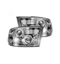 recon 264270cl dodge ram 09 19 1500 10 19 2500 3500 projector headlights clear chrome [ 2000 x 2000 Pixel ]