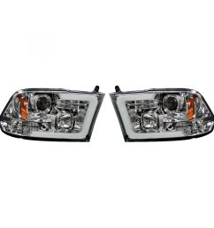 recon 264270clc dodge ram 09 19 1500 10 19 2500 3500 projector headlights w ultra high power smooth oled halos drl clear chrome [ 2000 x 2000 Pixel ]