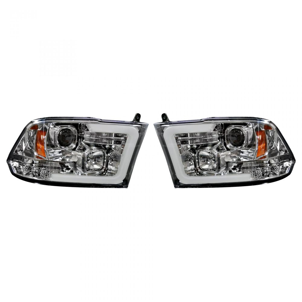 medium resolution of recon 264270clc dodge ram 09 19 1500 10 19 2500 3500 projector headlights w ultra high power smooth oled halos drl clear chrome