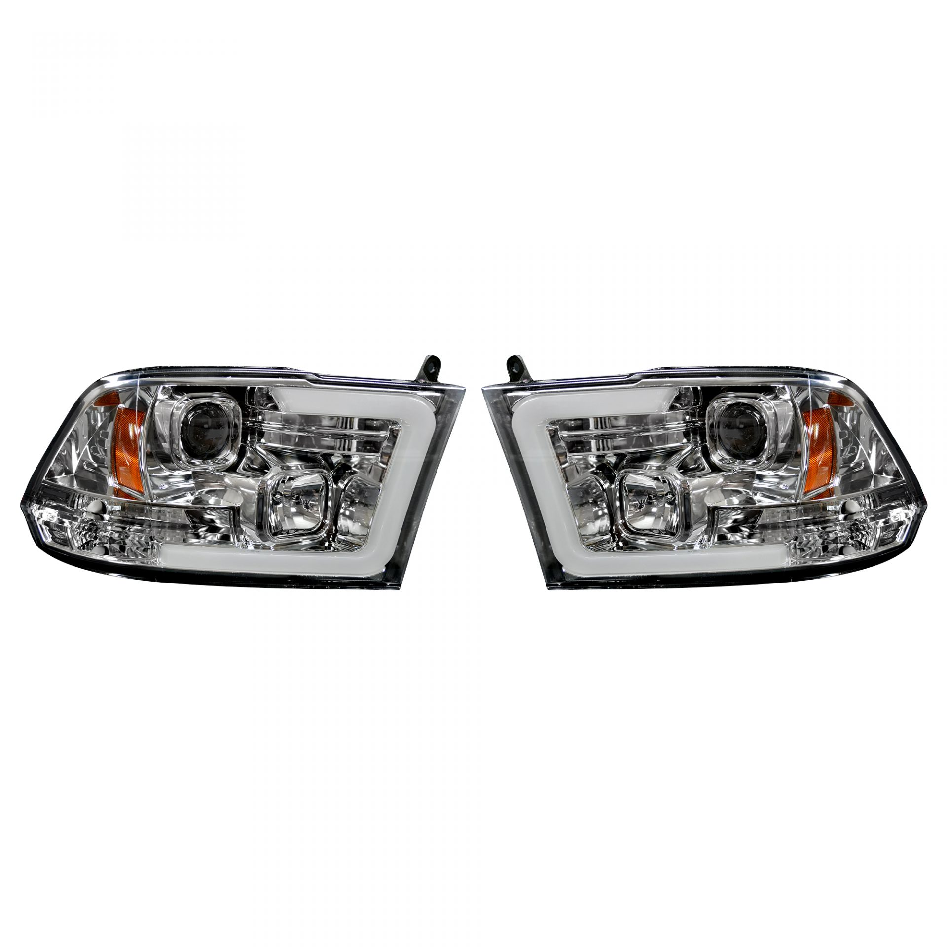 hight resolution of recon 264270clc dodge ram 09 19 1500 10 19 2500 3500 projector headlights w ultra high power smooth oled halos drl clear chrome