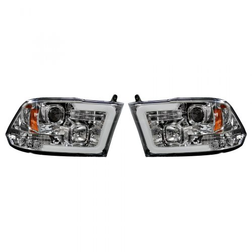 small resolution of recon 264270clc dodge ram 09 19 1500 10 19 2500 3500 projector headlights w ultra high power smooth oled halos drl clear chrome
